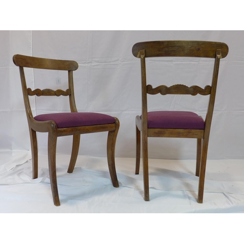 530 - A set of 5 Regency mahogany dining chair...