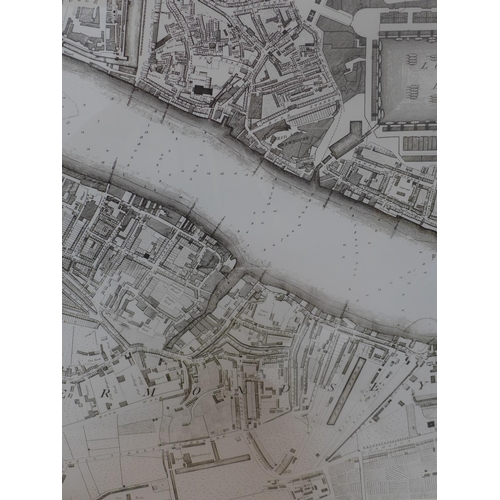 539 - A pair of contemporary maps of London Thames, 61 x 54cm...
