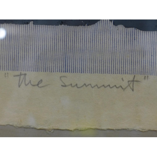 32 - Leon Piesowocki (British, born 1925), 'The Summit', limited edition screen print, signed and numbere...