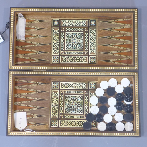 17 - A micro mosaic games board, with chess and backgammon...