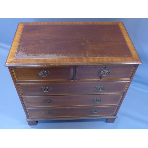 42 - A Georgian style mahogany chest of 2 short over 3 long drawers, stamped Nissenbaum & Sons Ltd., H.93...