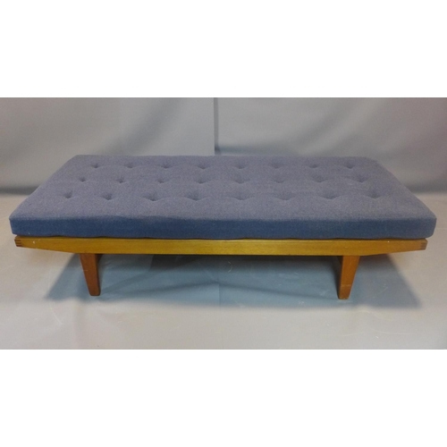 28 - A Danish Poul M. Volther daybed, with button back upholstered cushion, H.45 W.189 W.79cm...