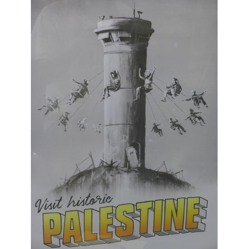 148 - Banksy (British, b.1974), 'Walled off Palestine', 2018, poster, with invoice dated 2018 from The Wal...