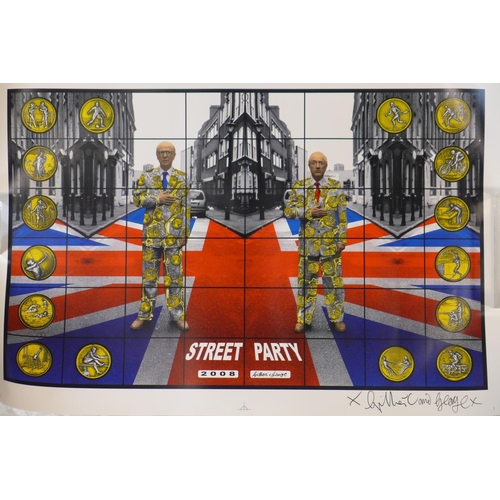 574 - Gilbert & George (b.1943 & 1942), 'Street Party', 2008, limited edition digital print, signed by eac...