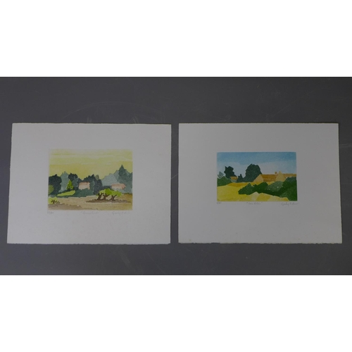 597 - Gaby Edrei (1936-2000), two lithographs, 'Quietitude', numbered 79/80, 15 x 20cm, and 'Les Liles', n...