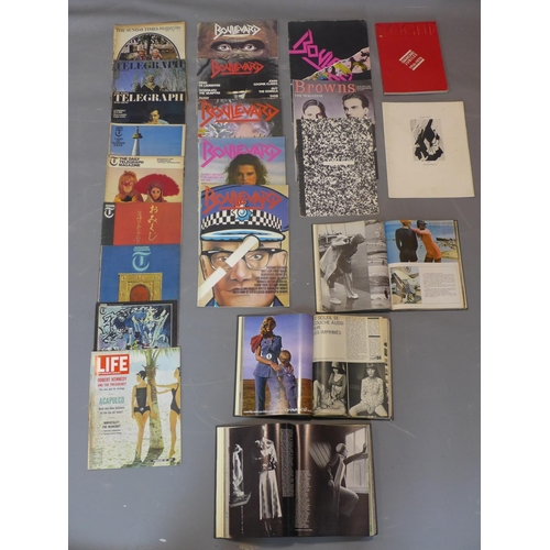 515 - A collection of vintage magazines and fashion books, to include the first 6 editions of 'Boulevard' ...