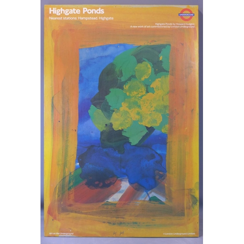 557 - Howard Hodgkin, London Underground poster of Highgate Ponds, commissioned by the London Underground,...