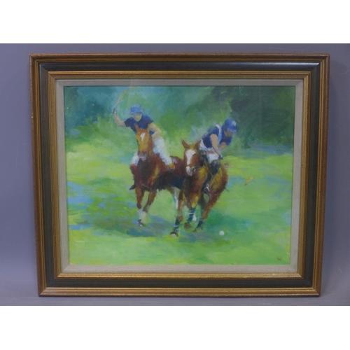 559 - Constance Halford Thompson (20th century British school), 'Rolex Cup 1988', oil on canvas, monogramm...