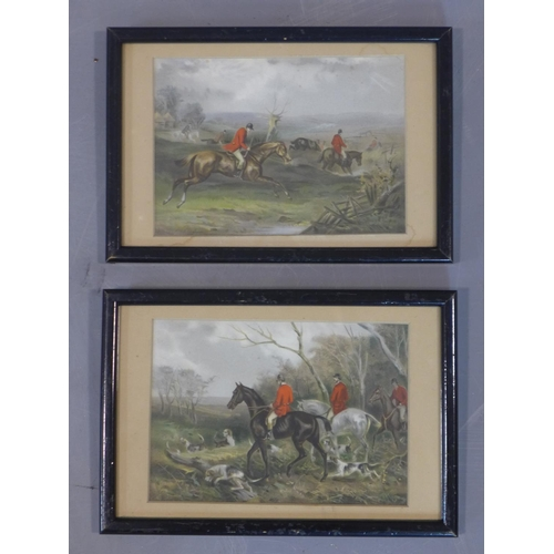 594 - After William Joseph Shayer (British, 1811-1892), a set of 5 Victorian hunting chromolithographs, 18...