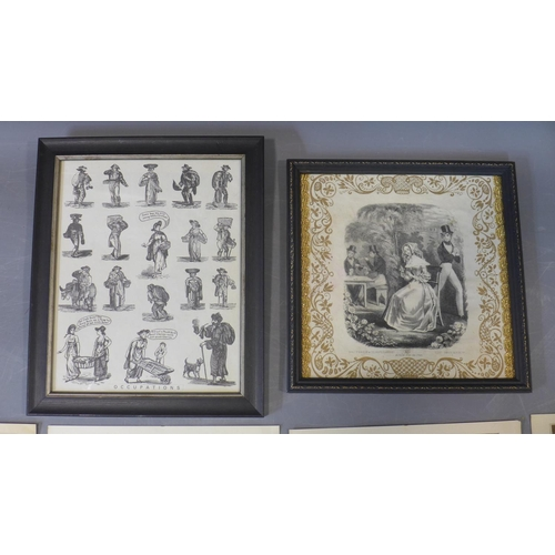 610 - After F. Wheatley, a set of 12 'Cries of London' engravings, directed by L. Schiavonetti, engraved b...
