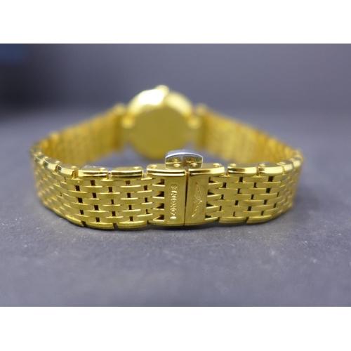 622 - A gold plated Longines Le Grande Classique ladies quartz wristwatch, 24mm  gilt dial with baton mark...