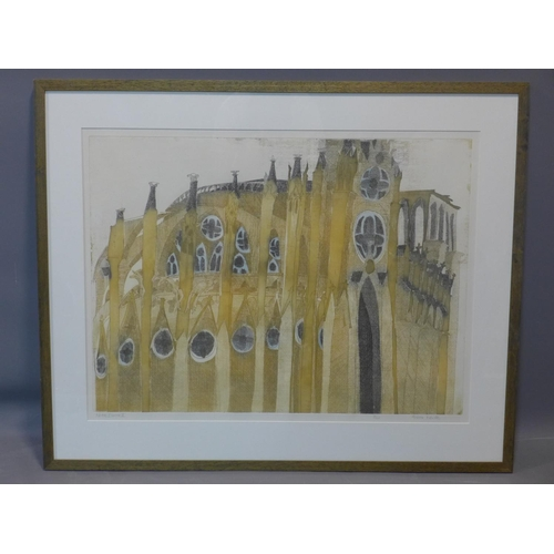 299 - Alison Neville (b.1945), 'Notre Dame II', colour etching, signed, titled and numbered 7/100 in penci...