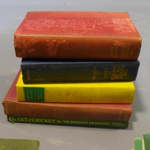 13 - A collection of Cricket books, to include 'The Complete Cricketer' by Albert E. Knight, 'The Turn of...