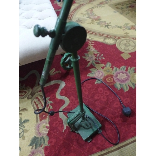 214 - A vintage green metal anglepoise lamp...