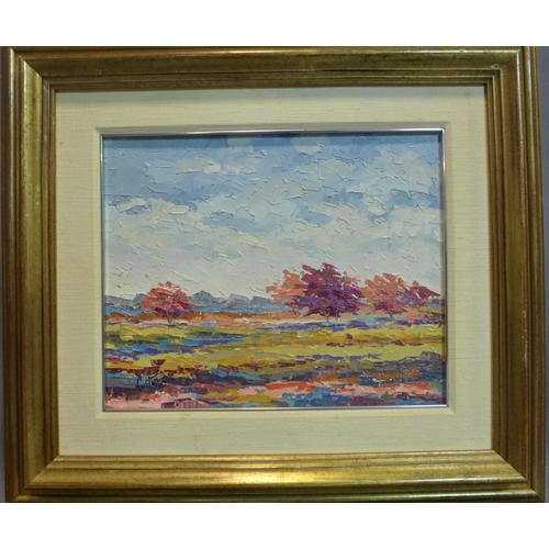 265 - 20th century impressionist landscape, oil on canvas, signed lower left 'Cister 19', framed, 41 x 32 ...