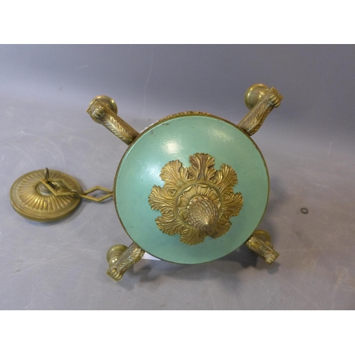 59 - Early 19th Century Four Branch Chandelier, brass, Diameter 24 cm...