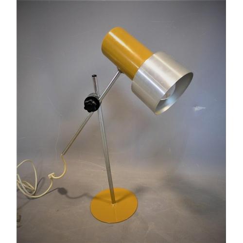 220 - A vintage adjustable table lamp, on circular base, H.54cm...