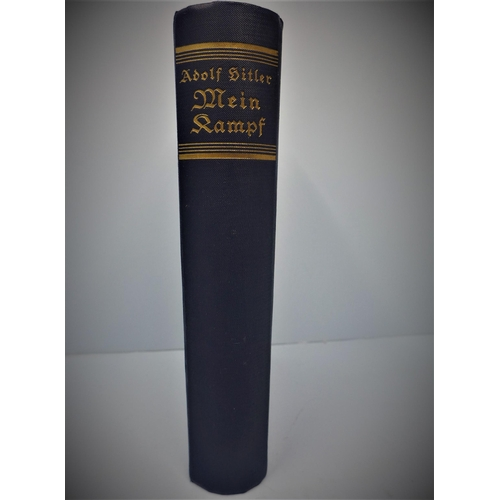 8 - Adolf Hitler, Mein Kampf, published by Franz Eher Nacholger, Munich 1933...