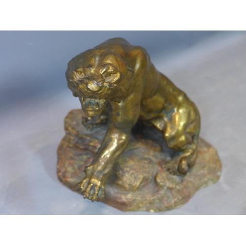 2 - A contemporary bronze tiger