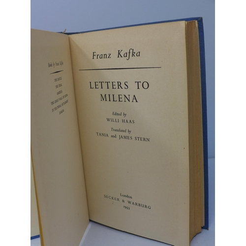 18 - Franz Kafka, 'Letters to Milena', 1st Edition, published by Secker & Warburg, London, 1953, posthumo...