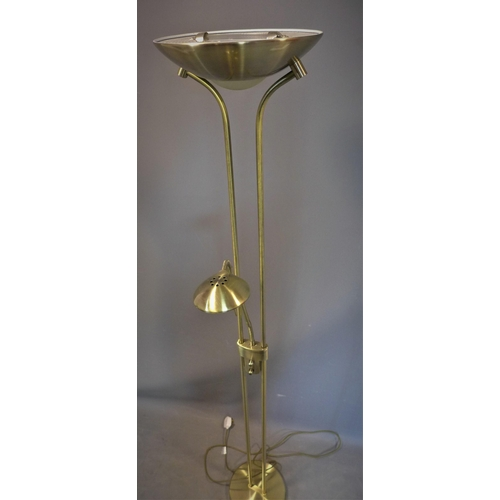 230 - A 20th century two light floor standing lamp, H.181cm...