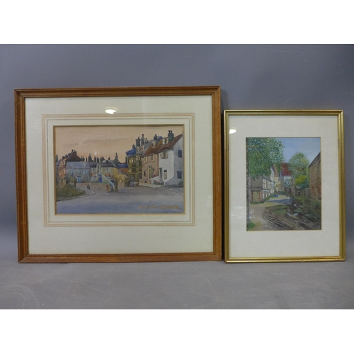 289 - Two watercolours of British Villages, work on paper, 20th century   Marjorie Bywater (British, 1903–...