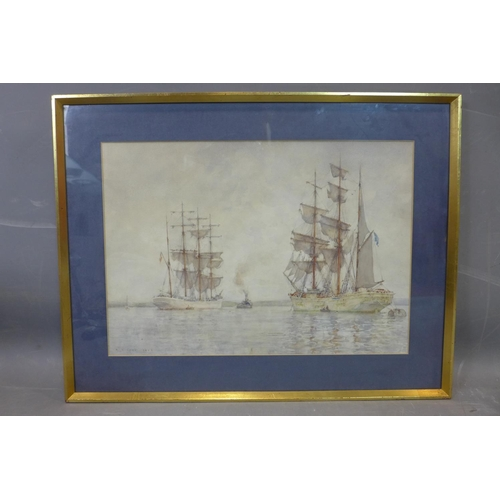 363 - Henry Scott Tuke RA RWS (1858 – 1929), Sailing Ships, watercolour, signed and dated 'A. S. Tuke 1928...