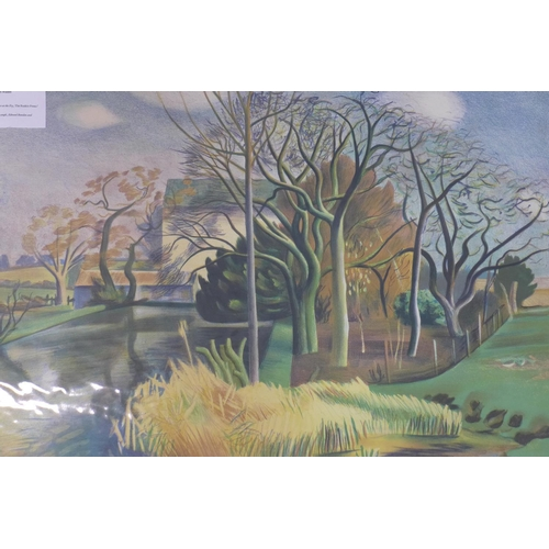 392 - John Aldridge (British, 1905 -1983), 'Mill in Essex', Lithograph, signed in the stone printed by Con...