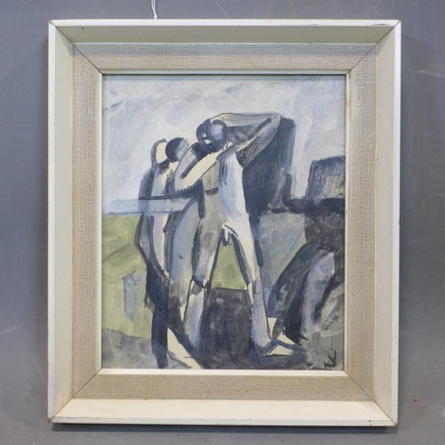 366 - Modern British Art - Keith Vaughan (British, 1912-1977), Two Male Figures, watercolour on paper, bea...
