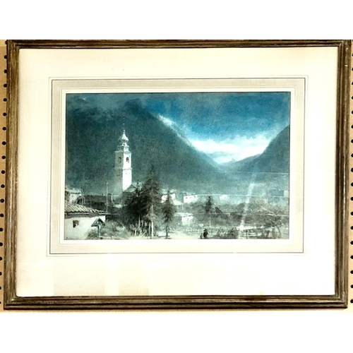 362 - Albert Goodwin (1845–1932),View of Pontresina, pencil and watercolour, signed and dated 'Albert Good...