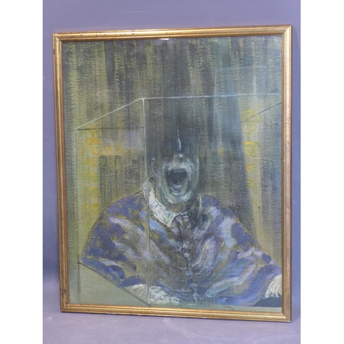 598 - After Francis Bacon, a reproduction print of 'Head VI, 1949', framed...