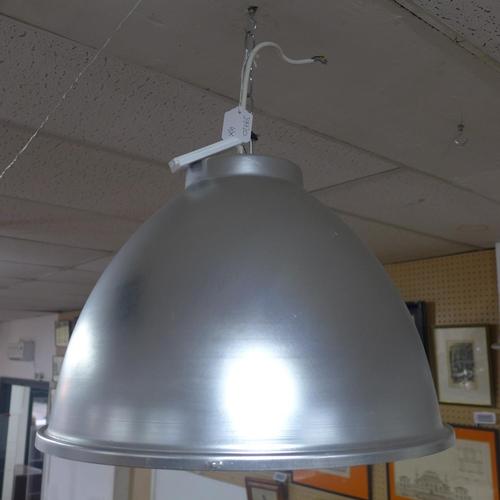 603 - Large vintage industrial aluminium light shade, diameter 50 cm...