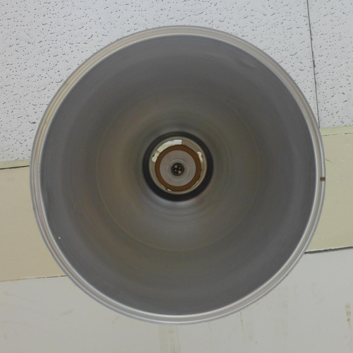 604 - Large vintage industrial aluminium light shade, diameter 50 cm...