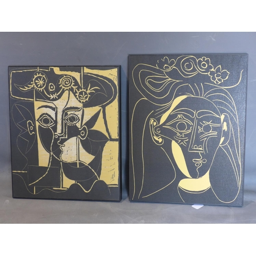 617 - After Pablo Picasso, two prints to include 'Woman with a Hat of Orne (Silk), 2011; and 'Woman with a...