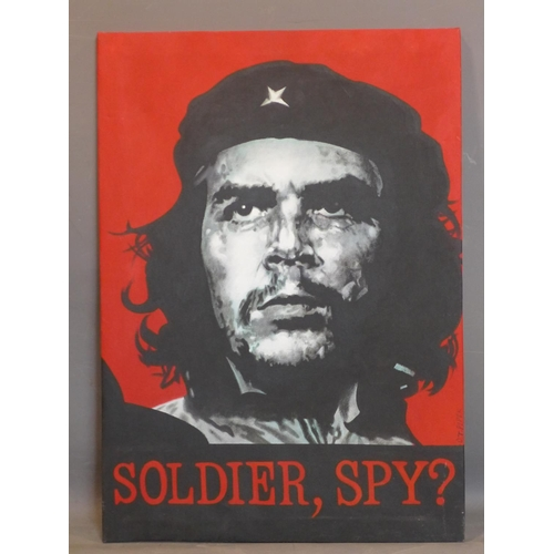 618 - D.T. Piper, 'Che Guevara - Soldier, Spy?', acrylic on canvas, signed, 96 x 69cm...