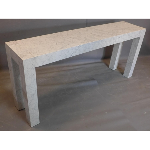 635 - A marble console table by Timothy Oulton, H.100 W.180 D.40cm...