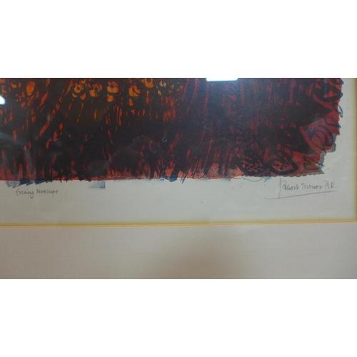 723 - British Postwar & Contemporary artist, Robert Tavener (1920-2004), 'Evening downscape', arstist proo...