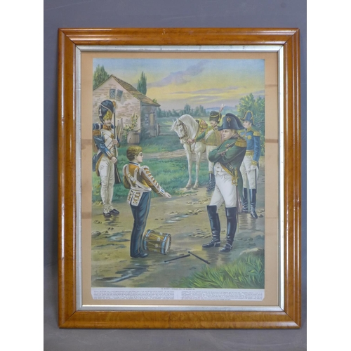 748 - Napoleon and the drummer boy, early 20th century print, framed, 80 x 65 cm...