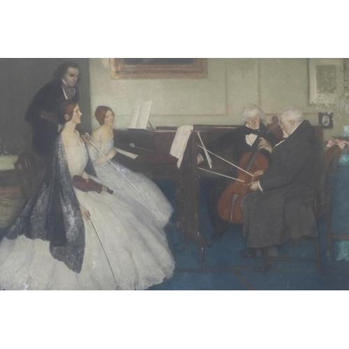 814 - Leonard Campbell Taylor, RA, ROI, RP (British, 1874-1969) The Rehearsal, signed by the artist, inscr...