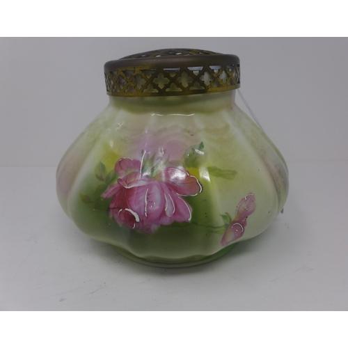 502 - 1970's green rose vase...