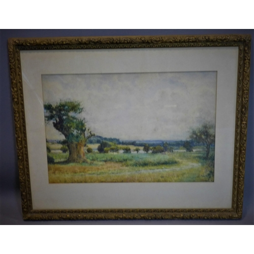 523 - Arthur George Bell, R.I. / R.O.I. (British, 1849-1916), 'New Forest Landscape', watercolour, signed ...