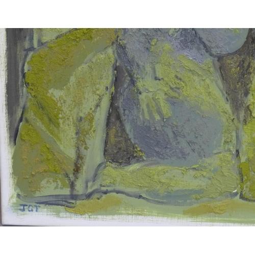 533 - Jacquie Gulliver Thompson (1942-2007), 'The Unquiet Dead IV, Mexico,' 2006, oil on canvas, monogramm...