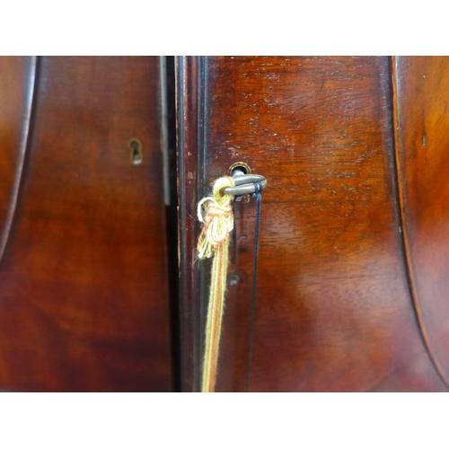 537 - Georgian mahogany bow fronted wardrobe, 195x115x60cm (H-W-D)...