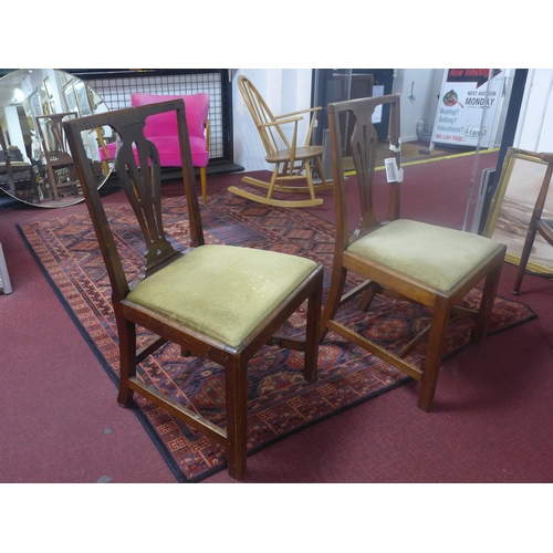 539 - Two 20th century mahogany chairs, with drop in seats, 90 x 45 x 54cm...