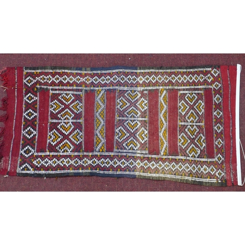 294 - Two 20th century small woollen rugs, 150 x 96 cm max...