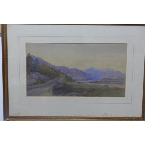 304 - William Leighton Leitch (British, 1804-1883), two watercolour representing rural landscapes, framed ...