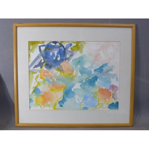 307 - Patricia Wright (British, 1919 - 2019), 'Still life with tea pot', watercolour 50 x 43 cm...