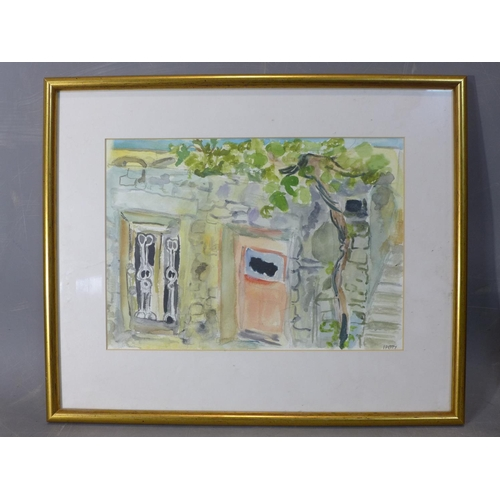 308 - Patricia Wright (British, 1919 - 2019), Greece summer, watercolour, signed 'I Patty', 38 x 30 cm...
