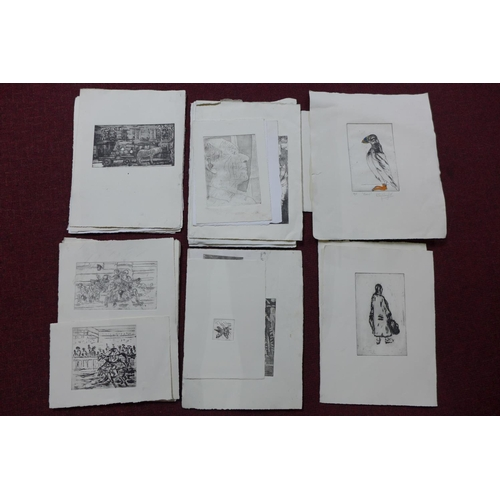 312 - Patricia Wright (British, 1919 - 2019), Thirty etchings of various subjects, some signed titled and ...