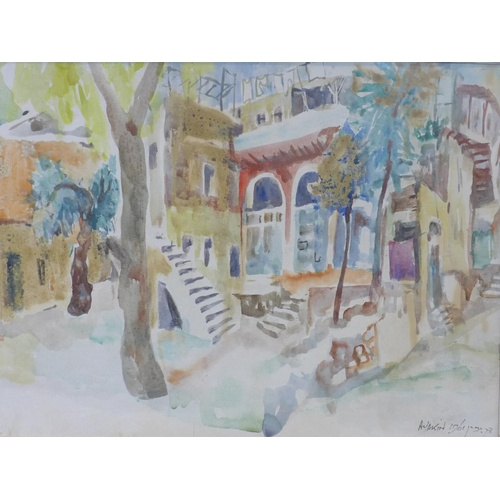 315 - Abraham Yakin (1924 -), View of Jerusalem, watercolour, signed and dated 'A Yakin 1961', 53 x 68 cm...